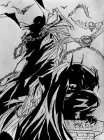Spawn and Batman Inked by DiegoE05