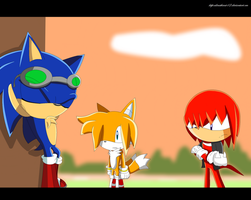 Fake Sonic x shot by alinathecat12