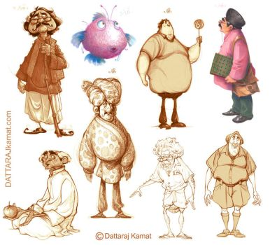 Characters 67 F by Dattaraj