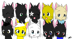 WindClan Members by Gingerliner