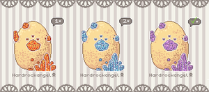 Pixel Gem Eggs -- 1/3 OPEN by Hardrockangel-Adopts