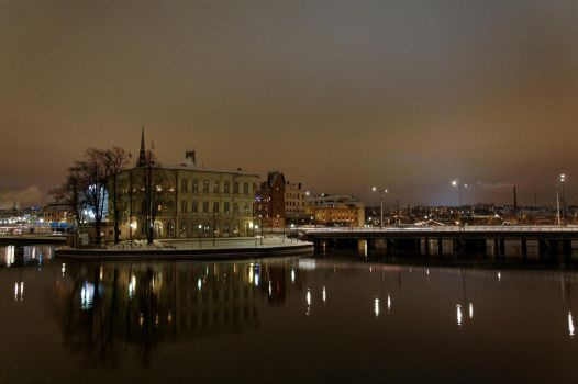 Stockholm by night by artspring