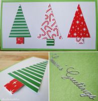 Handmade Christmas Card [Trees] by cakecrumbs