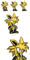Shock the Jolteon sprite by LucarioShirona