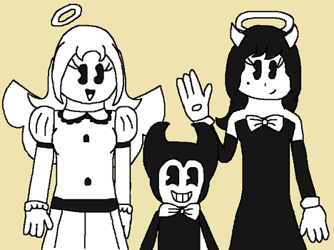 AT: Carrie, Bendy, and Alice by angelthewingedcat