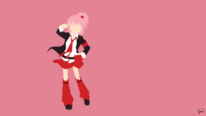 Amu Hinamori (Shugo Chara) Minimalist Wallpaper by greenmapple17