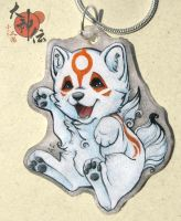 Chibiterasu necklace by SirKittenpaws