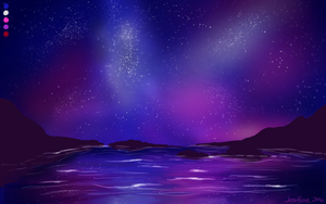 Color Challenge Nightscape by JessiRenee