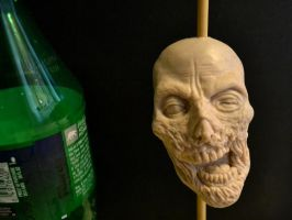 My little Zombie Head 'in progress2' by asconch