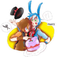 Toy Freddy and Toy Bonnie by NianU94