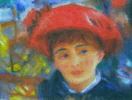 Lady in a Red Hat by artistf2