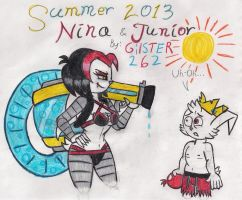 Summer 2013: Nina and Junior by gilster262