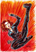 Black Widow fanart by Ireness-Art