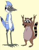 The Real Mordecai and Rigby by roperseid