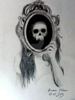 Skull in the mirror by uloveme64