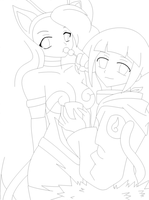 Felicia N Hinata Line Art by AnimeLoveAnimeRPer