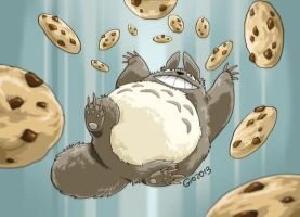 Doodle 218 - Totoro dream of cookies by giovannag