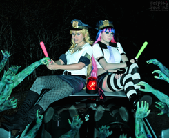 Panty n Stocking Zombie Police by CosplayCousins