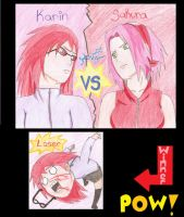 karin vs sakura by twinLtwinV