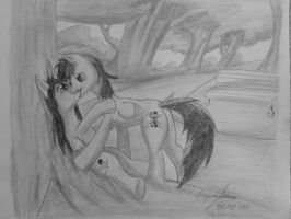 Beneath a tree with you (Sketch) by brab777
