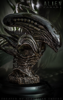 Alien sculpture by Threepwoody