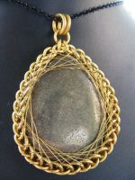 pyrite persian fractal wrap by BacktoEarthCreations
