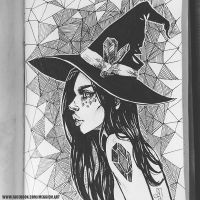 Inktober Day 9 Crystal Witch by Meggie-M