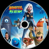 Monsters vs. Aliens Disc Label by RoadWarrior00