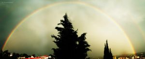 Rainbow Panorama by selley