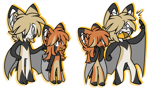 H and Izzy Double Ref by Aeniridiae