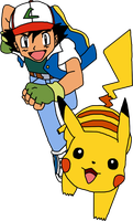 Ash and Pikachu by Mighty355