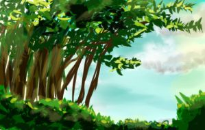 Landscape Practice - Summer by Baby-xion
