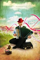 L' accordeoniste by Chubby-Cherry