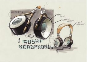 Sushi Headphones by t0m45
