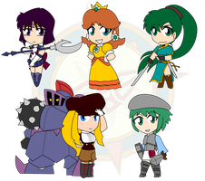 Assorted Chibis - Set 33 by Dragon-FangX