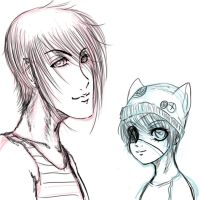 Ciel and Sebastian Punk Style by SweetlyAddicted