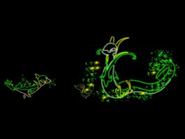 495 Snivy 496 Servine 497 Serperior by XxGingerSharkxX