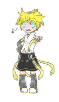 Len Append Chibi by mintgold-sky