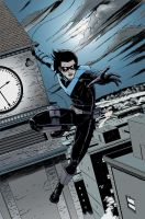 nightwing by rdelarosa