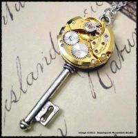 Steampunk Golden Key by SoulCatcher06