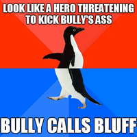 Socially Awesome Awkward Penguin - Bluffing Hero by INF3CT3D-D3M0N