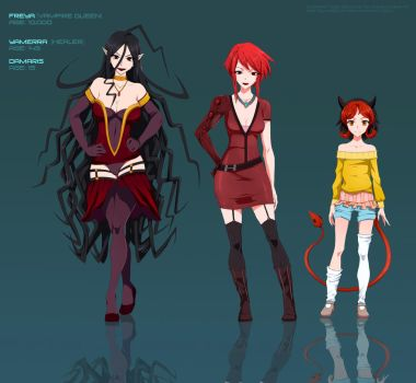 Kaneko's characters  - commission by Precia-T