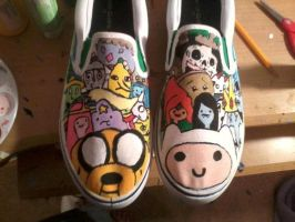 Adventure Time Shoes by Strider-rumps