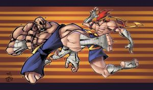Sagat V Adon- Colors IvyBeth by SuperUndiesMan