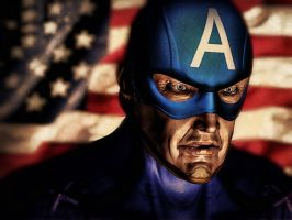 Captain America, getting old by alonsomm