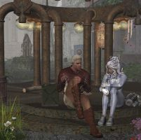 Alcides and Ekidna by Hera-of-Stockholm