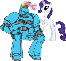 Dash Marine and Rarity by TertonDA