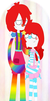 Giggly Jill and Colorfull Jack by FabyTetrix