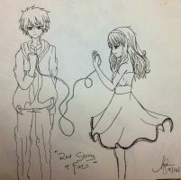 Red String of Fate by Laladeedadee