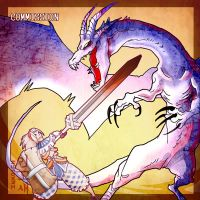Monster Hunter Fatalis Fight by macawnivore